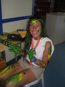 Maria painted Jamaican