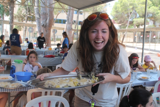 Meal times on camp