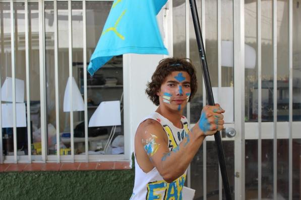Borja dressed up for intercamp