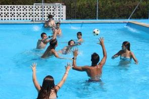 Swimming pool on camp