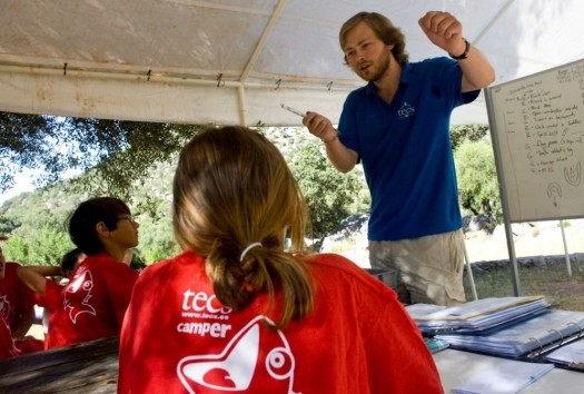 outside-teaching at summer camp