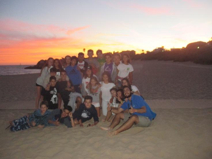 Sunset at evening entertainment - Beach BBQ