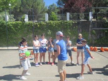 Sports time in Family Camp Gredos