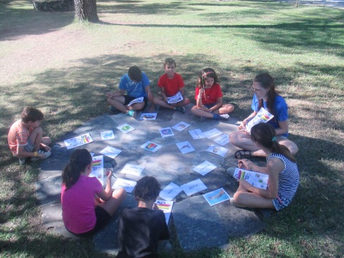Class time at Family Camp Gredos