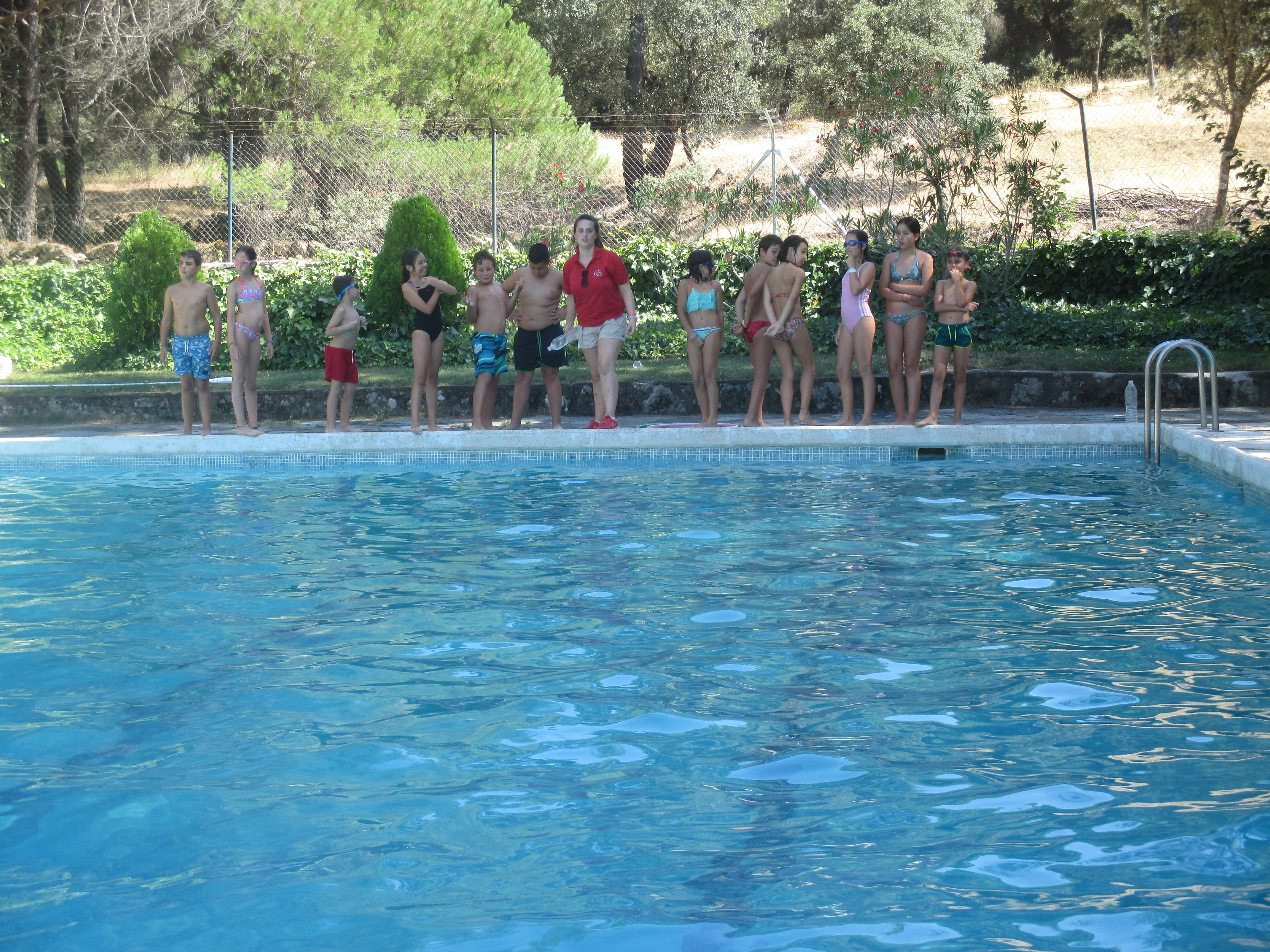 Swimming pool fun at Family Camp Gredos